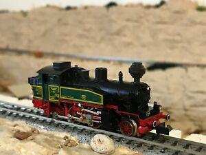 fleischmann piccolo n scale engine 7368 steam lighted front