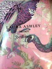 Laura Ashley Belvedere Fuchsia Single Duvet Cover Set 1 Pillowcase Peacocks