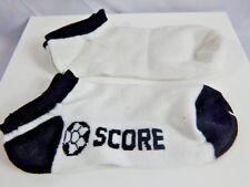 Nos 2 Tone Socks Bobby Sock Hop Sport Retro School Girl Score Peds Soccer Ball
