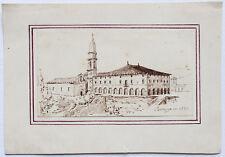 DESSIN XIXème ITALIE COSTOZZA EN 1830