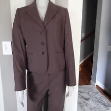 elie TAHARI PANTS suit,2 PC blazer,jacket,SZ 12,  wool cotton blend b7