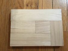 5 Pieces! Unfinished Wood Block Set, Assorted Sizes