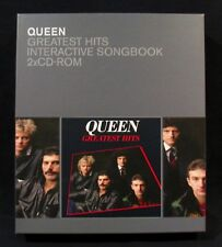 QUEEN-Greatest Hits-Interactive Songbook-2x CD Rom Box Set-Rare! Freddie Mercury