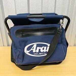 ARAI HELMET Cool Bag / Folding Stool / Seat F1 MotoGP Multi-Use FREE POST