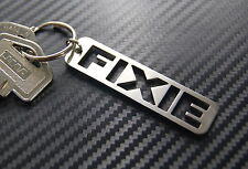 FIXIE Fixed Gear Track Bike Cycle Keyring Keychain Key Stainless Steel Gift