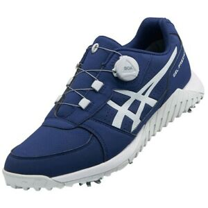 Asics Golf Shoes Gel-Preshot Boa Soft Spike Wide 1113A003 Navy With Tracking