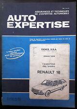 AUTO EXPERTISE n°77; Fiche S.R.A/ RENAULT 18/ Renault 20 et 30