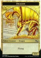 2x Dragon Token FOIL | NM/M | Unstable | Magic MTG