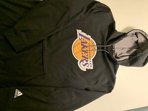Los Angeles Lakers Black Adidas Hoodie Sweatshirt