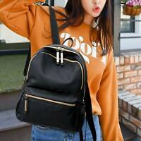 Fashion PU backpack Bag Women Handbag Pack trend Travel Bag Black wild UK