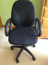 Black Office Desk Chair – Swivel – Complete with Arms