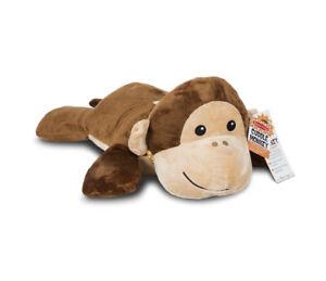 NEW Melissa & Doug Cuddle Monkey Jumbo Plush Stuffed Animal with Activity Card