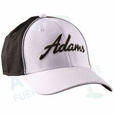 """Adams Tour Cap """"Cross Town"""" weiß schwarz, fitted Größe S/M 54 - 59 cm LSF 25+"""