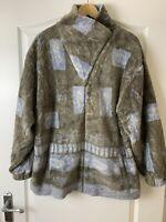 UO Urban Renewal Blue & Grey Full Zip Pattern Fleece Size 12 BNWT £49