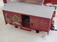 LGB Lehmann-Gross-Bahn 43353 RED CHRISTMAS BOX CAR NO SOUND NO SPEAKER IN CAR