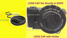 FRONT SNAP-ON LENS CAP to CAMERA SONY ALPHA A6500 +HOLDER, ALFA A 6500 /16-50mm