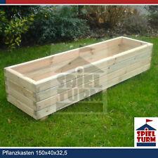 HOQ Pflanzkasten 150 cm Pflanztrog Pflanzkübel Holz Garten NEU