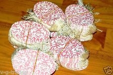 Lot 200 Large Oval Pink Damask Print 3 12 X 2 14 Merchandise Price Tags Strung