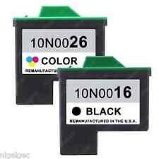 LEXMARK 16 Tinta Negra + 26 Color para X1130 X1140 X1150