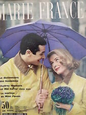 ▬► Marie France 24 de 1958 Catherine Anouilh Audrey Hepburn Mel Ferrer