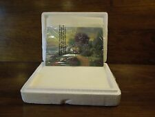 """Qvc Thomas Kinkade Limited Edition Plate No. A3201 """"Spring's New Dawning"""" 8x5.5"""