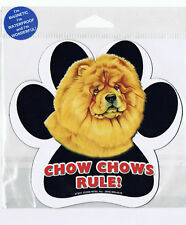 Chow Chow Rules Waterproof Bumper Sticker Magnet NIP