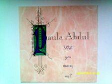 "PAULA ABDUL WILL YOU MARRY ME 12"" SINGLE 1992 N/MINT"