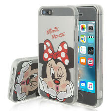 Carcasa Funda De Silicona TPU Ultra Fina Minnie Mouse Apple iPhone 5SE/ SE