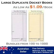 LARGE RESTAURANT DOCKET BOOKS - DUPLICATE CARBONLESS (As low as $0.87 per book)