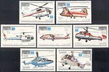 Kampuchéa 1987 helicópteros Aviones// Aviación/Vuelo/transporte/stampex 7 V (b8031)