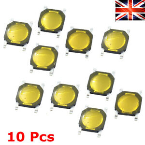10 Pcs Tact Switch Wafer Thin SMD GOLD MICROSWITCH Tactile Push Button 4x4x0.8mm