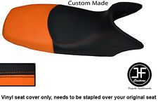 BLACK & ORANGE VINYL CUSTOM FITS HONDA XL 125 01-12 VARADERO SEAT COVER ONLY