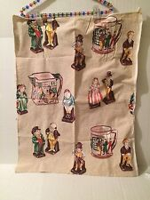 Royal Doulton Dickens Figurines Oliver Twist Fabric for Dish Towel Vintage
