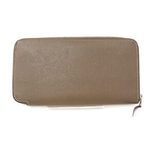 Hermes Zippy Wallet A zap long silkin luxury Etoupe Leather 1806956