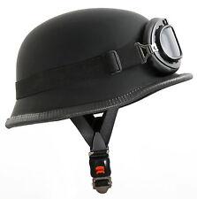Stahlhelm Wehrmacht WH1 L Kradmelder Motorradhelm Helm Brille für Oldtimer Moped