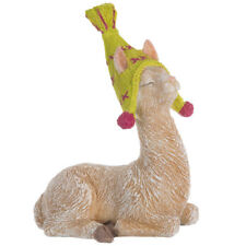 Llama With Knit Hat Statue. Cute  knick-knacks for a well-loved home!