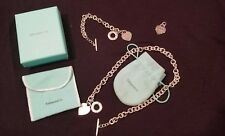 "TIFFANY & CO Heart Toggle Set Necklace 16"", Bracelet 7.5"" and BONUS Pendant!"