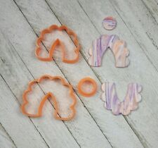 Scallop Edge Arch Shape Set of 3 Cutters for Polymer Clay Jewelry Craft Tool Art