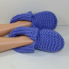PRINTED KNITTING INSTRUCTIONS-ADULT SUPER CHUNKY SLIPPERS KNITTING PATTERN