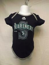 85fd28aaeaf New Seattle Mariners Majestic Infant 6 9 Months Navy Blue Creeper
