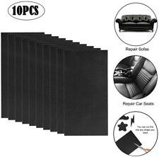 """10 Pcs 4x8"""" Leather Patch Repair Kit Black Adhesive for Sofa, Car Seat, Handbag"""