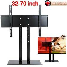 "Universal Table Top TV Stand Base VESA Pedestal Mount Bracket 32""-70"" LCD LED 3D"