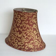 "OVAL RED BELL LAMP SHADE Fabric Pattern Stretched Spider Fitter 11.5""Hx10""x14"""