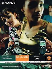 PUBLICITE ADVERTISING 045  2000  SIEMENS  téléphone  portable C 35i