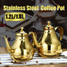 1.2/1.8L Stainless Steel Coffee Pot Kettle Teapot Palace &Percolator Filter  *