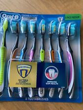 New Oral B Cross Action Medium Toothbrush 8 Pack