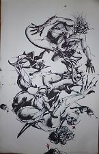 Velickovic Vladimir Lithographie signée art abstrait abstraction Belgrade Serbe
