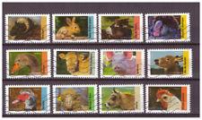 Serie Fauna de Francia sellos adhesivos 2017