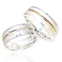 2 Eheringe Freundschaftsringe Verlobungsringe 925 Silber + GRAVUR + ETUI  AO98
