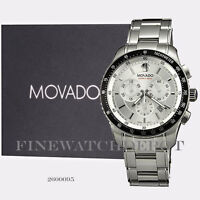 Authentic Stainless Steel Men's Movado Chronograph Watch 2600095